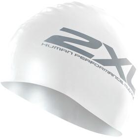 2XU Silicone Swim Cap, white/white